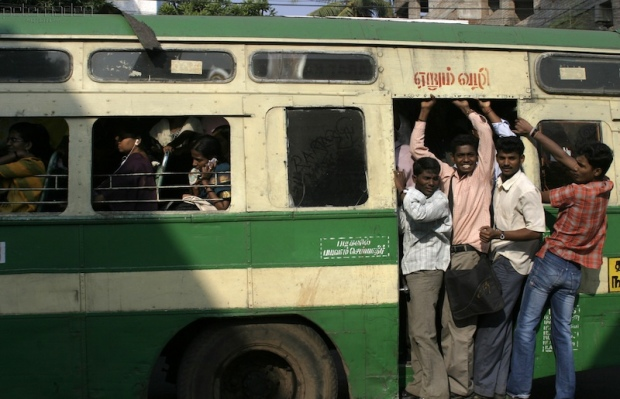 Crowded Indian Bus