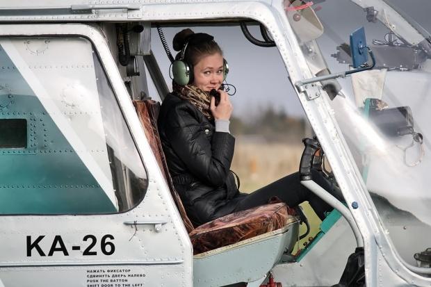 Sexy female pilot
