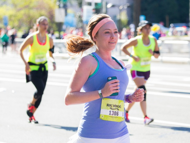 Women running a half marathon