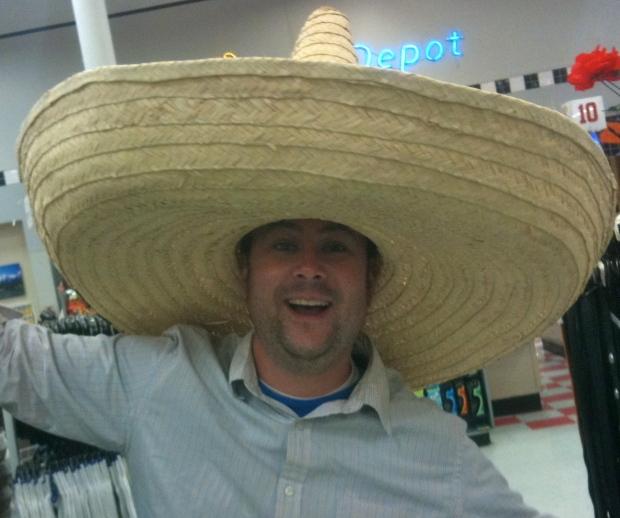 Man wearing sombreros