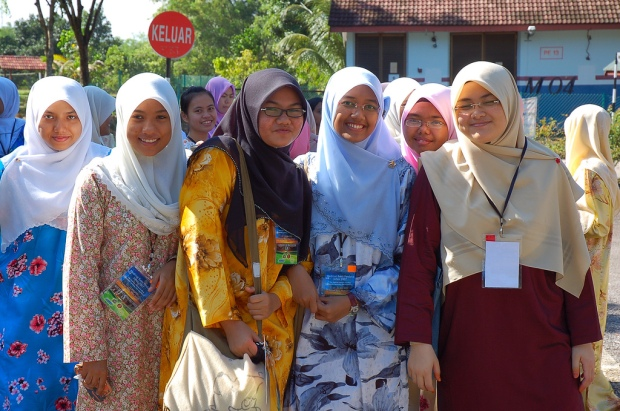 Very Colorful Clothes of Malay Girls